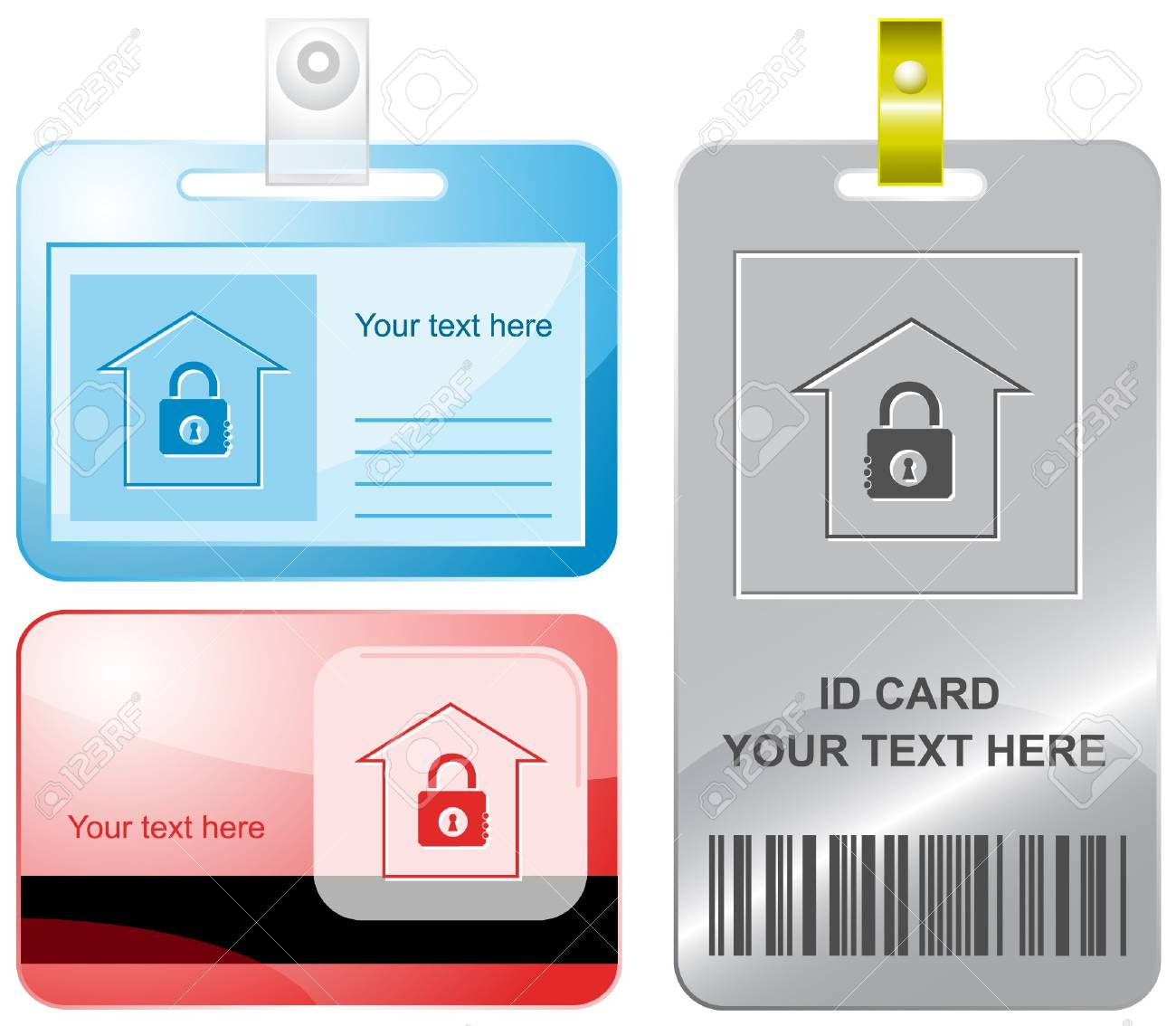 Bank. id cards. Stock Vector - 7176217