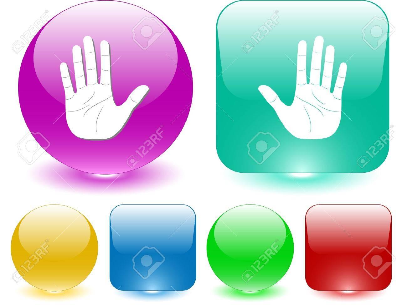 Stop hand. Vector interface element. Stock Vector - 7187464