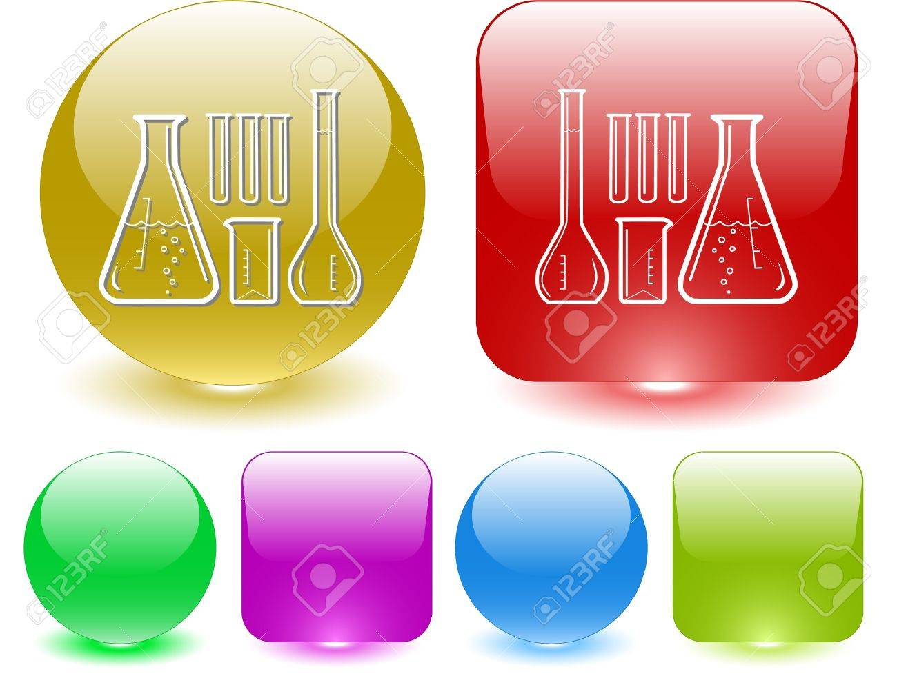 Chemical test tubes. Vector interface element. Stock Vector - 7187472