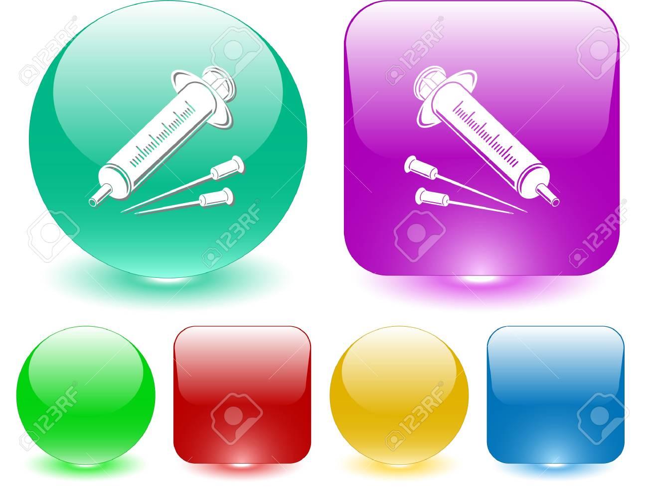 Syringe. Vector interface element. Stock Vector - 7187479