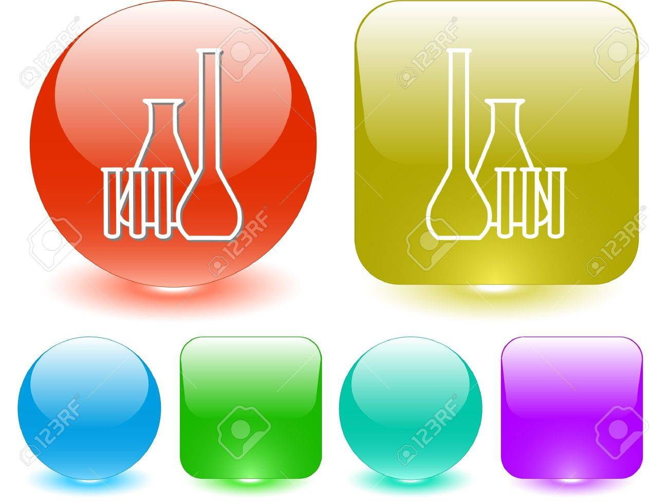 Chemical test tubes. Vector interface element. Stock Vector - 7187402