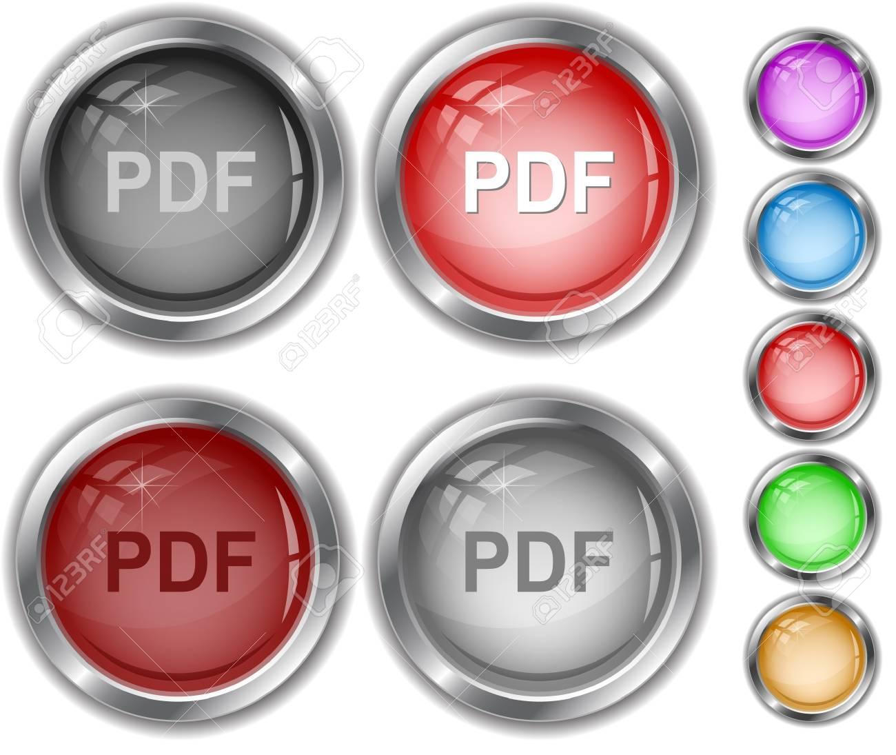 Pdf. internet buttons. Stock Vector - 7302168