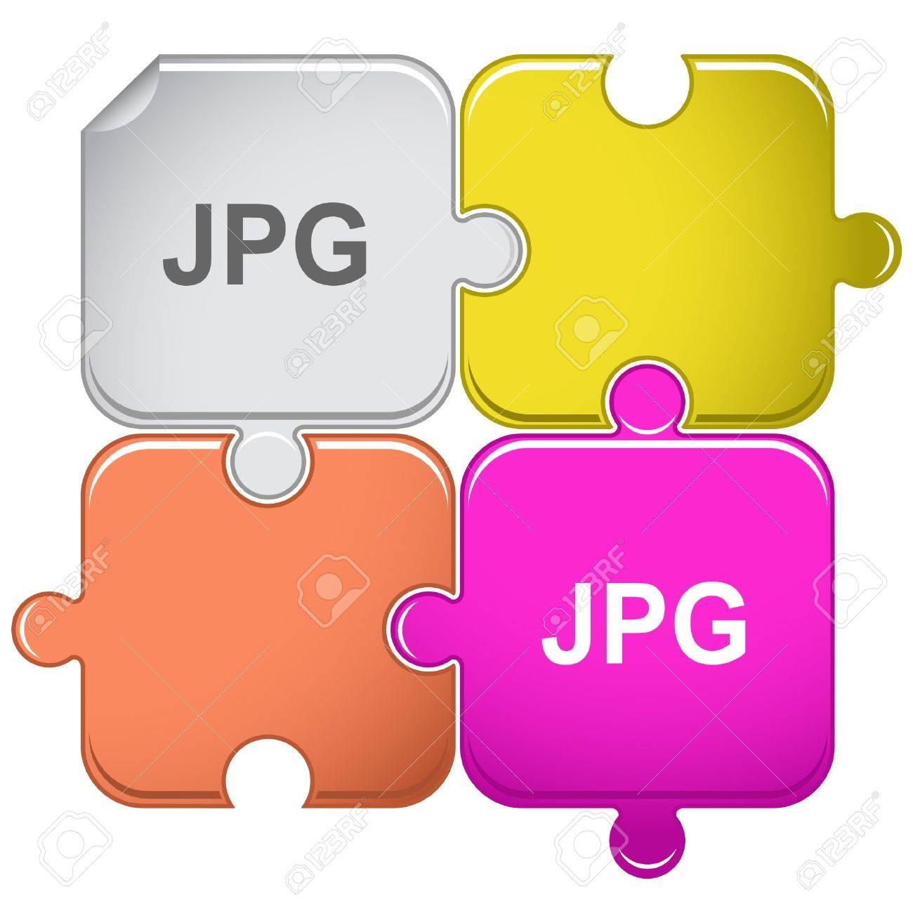 Jpg. puzzle. Stock Vector - 7301854