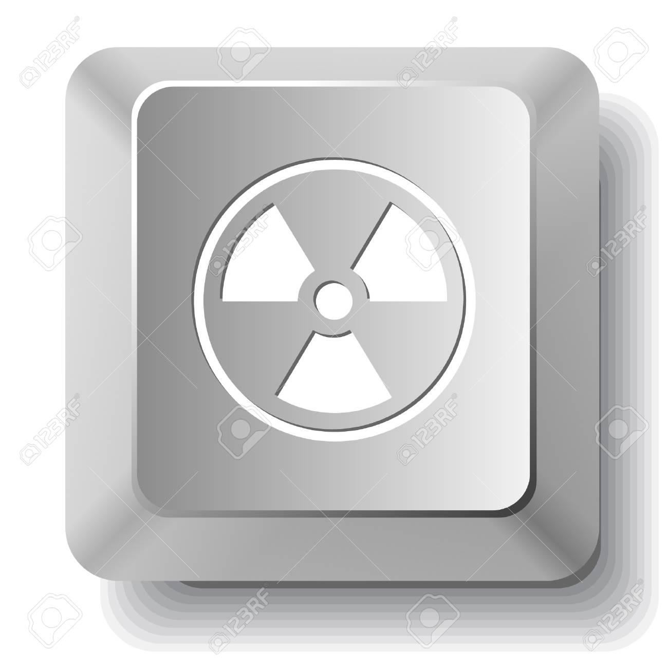 Radiation symbol. computer key. Stock Vector - 7522673