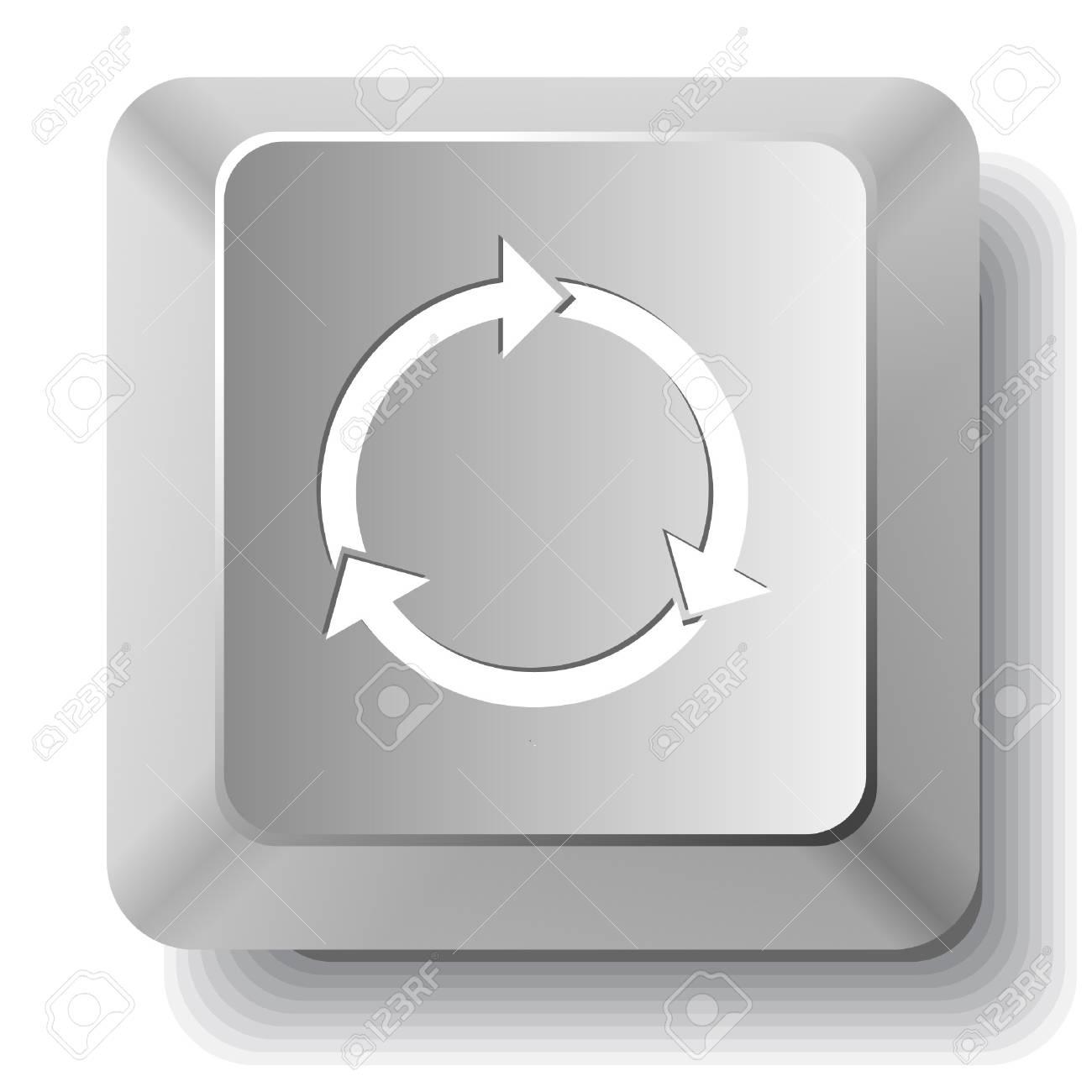 Recycle symbol. computer key. Stock Vector - 7522796