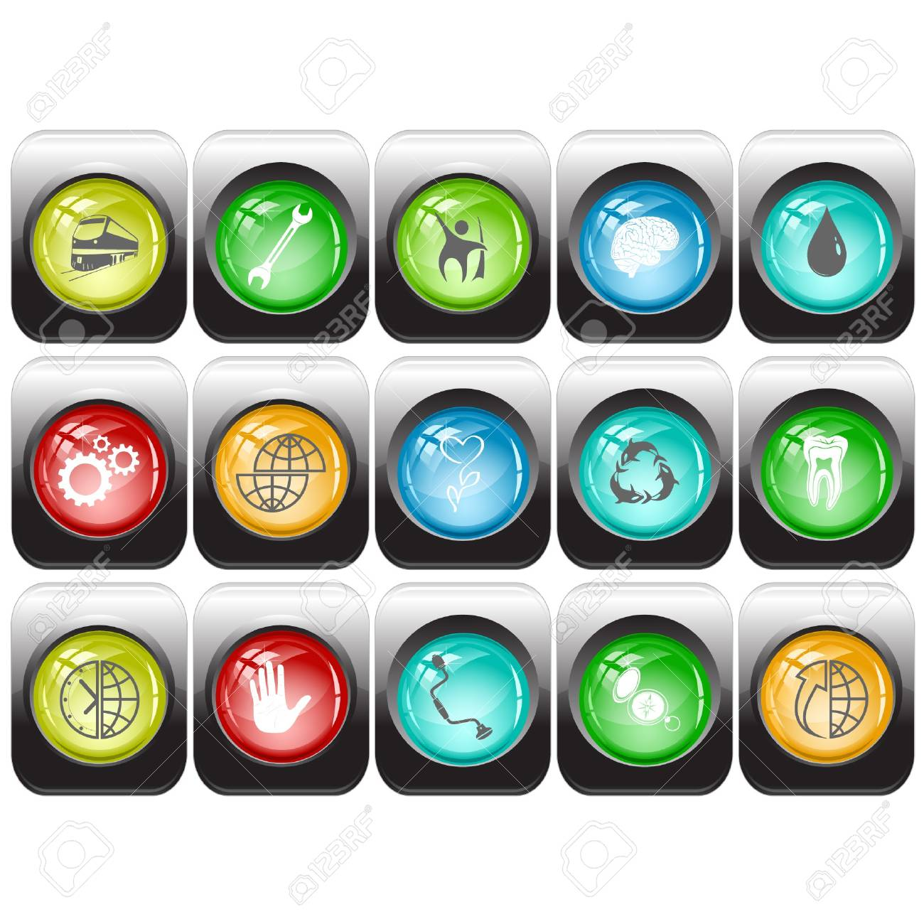 set of internet buttons Stock Vector - 7602185