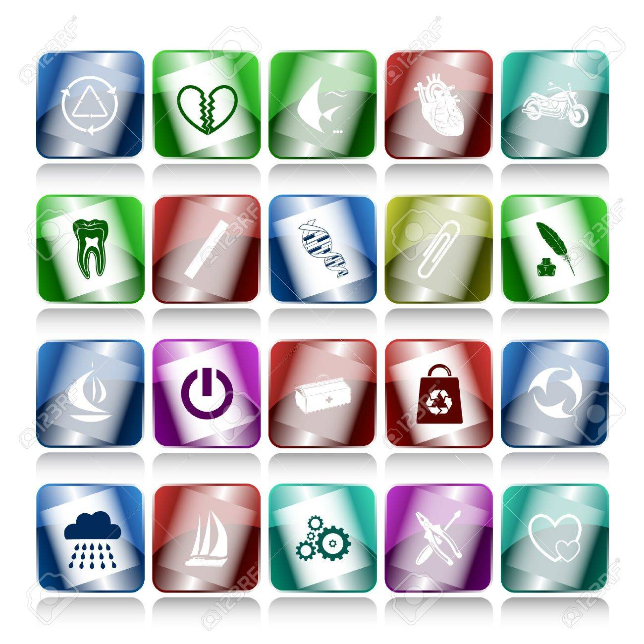 set of internet buttons. 20 elements. Stock Photo - 7634163