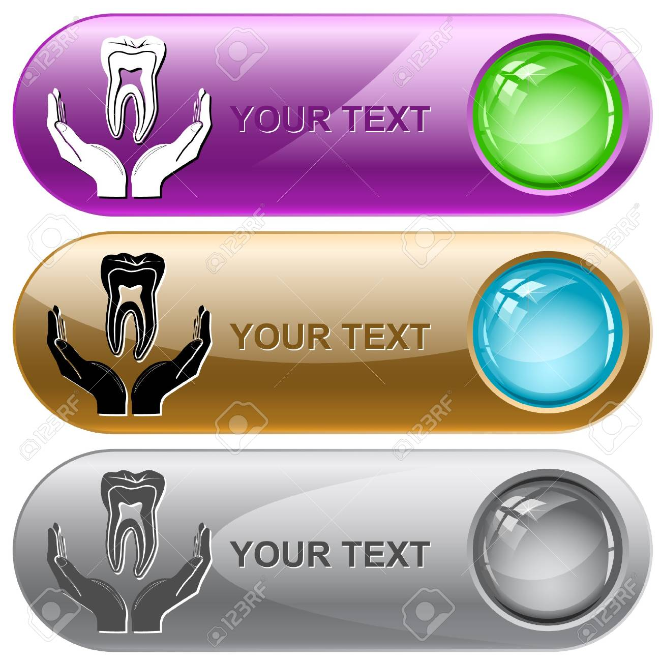 health in hands.  internet buttons. Stock Photo - 8220509