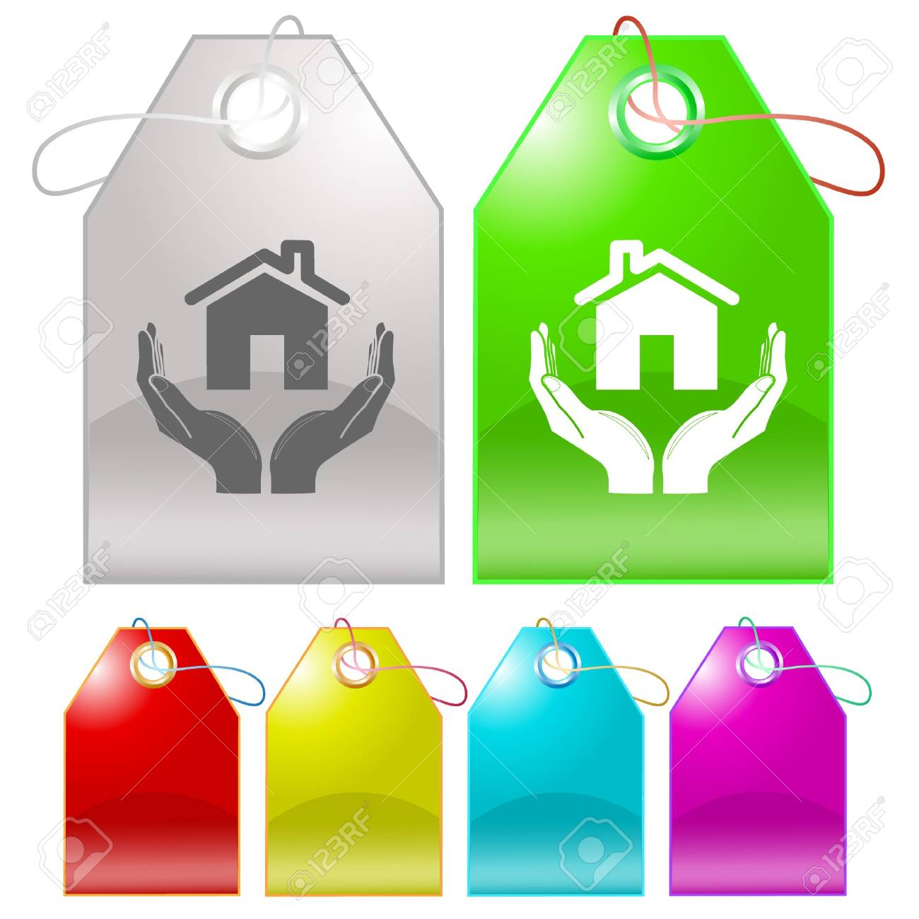 home in hands. tags. Stock Photo - 8220471