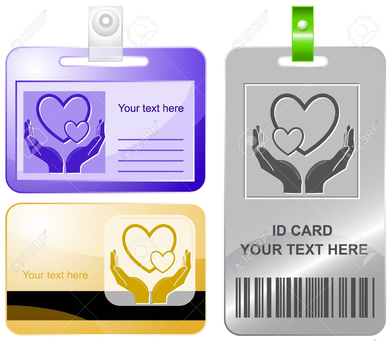 love in hands.   id cards. Stock Photo - 8249303