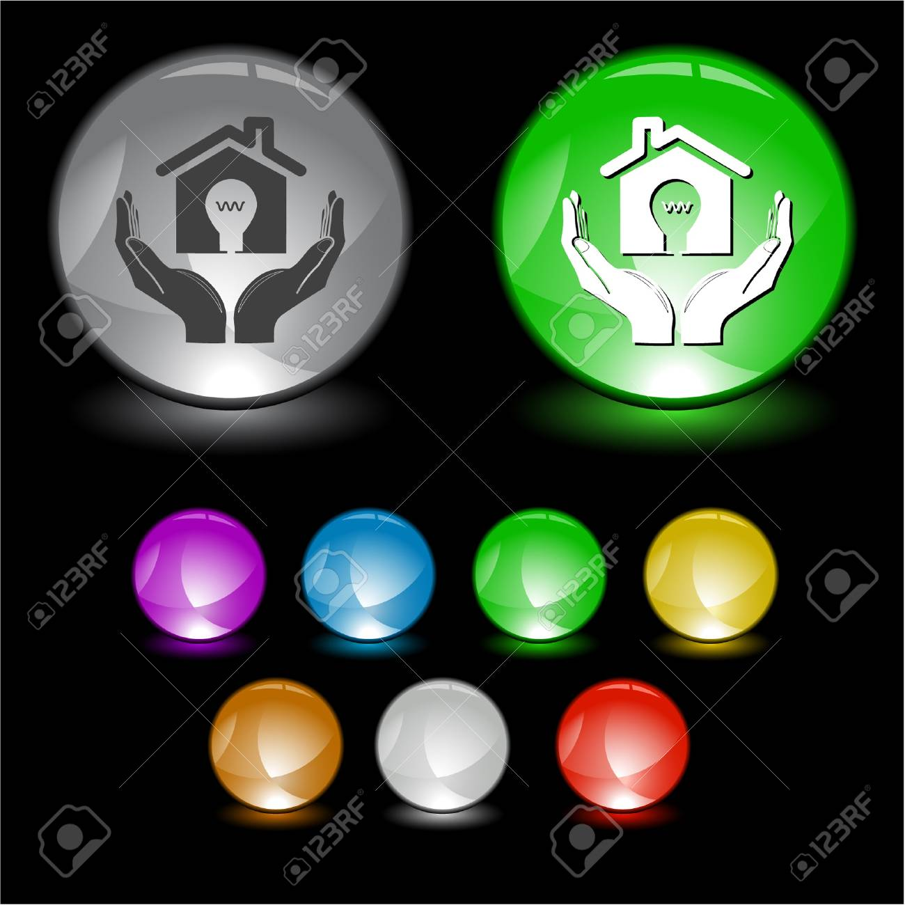 economy in hands. interface element. Stock Photo - 8249330