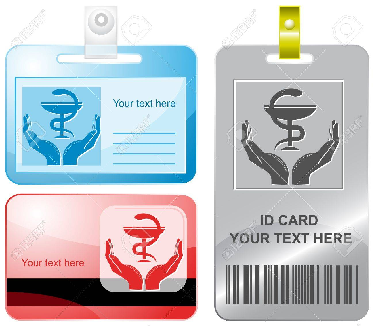 health in hands. Vector id cards. Stock Photo - 8406593