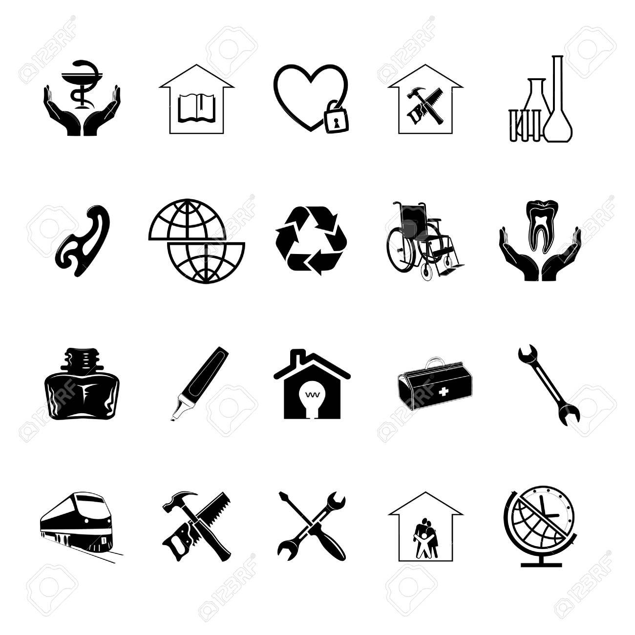 Vector set of icons Stock Photo - 8456696