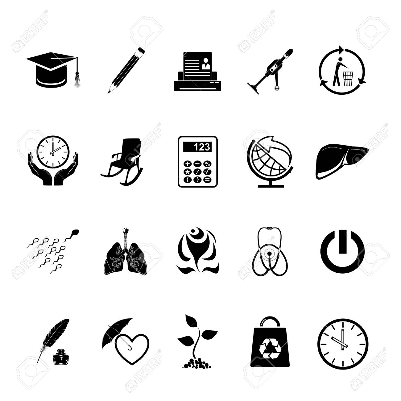 Vector set of icons Stock Photo - 8456693