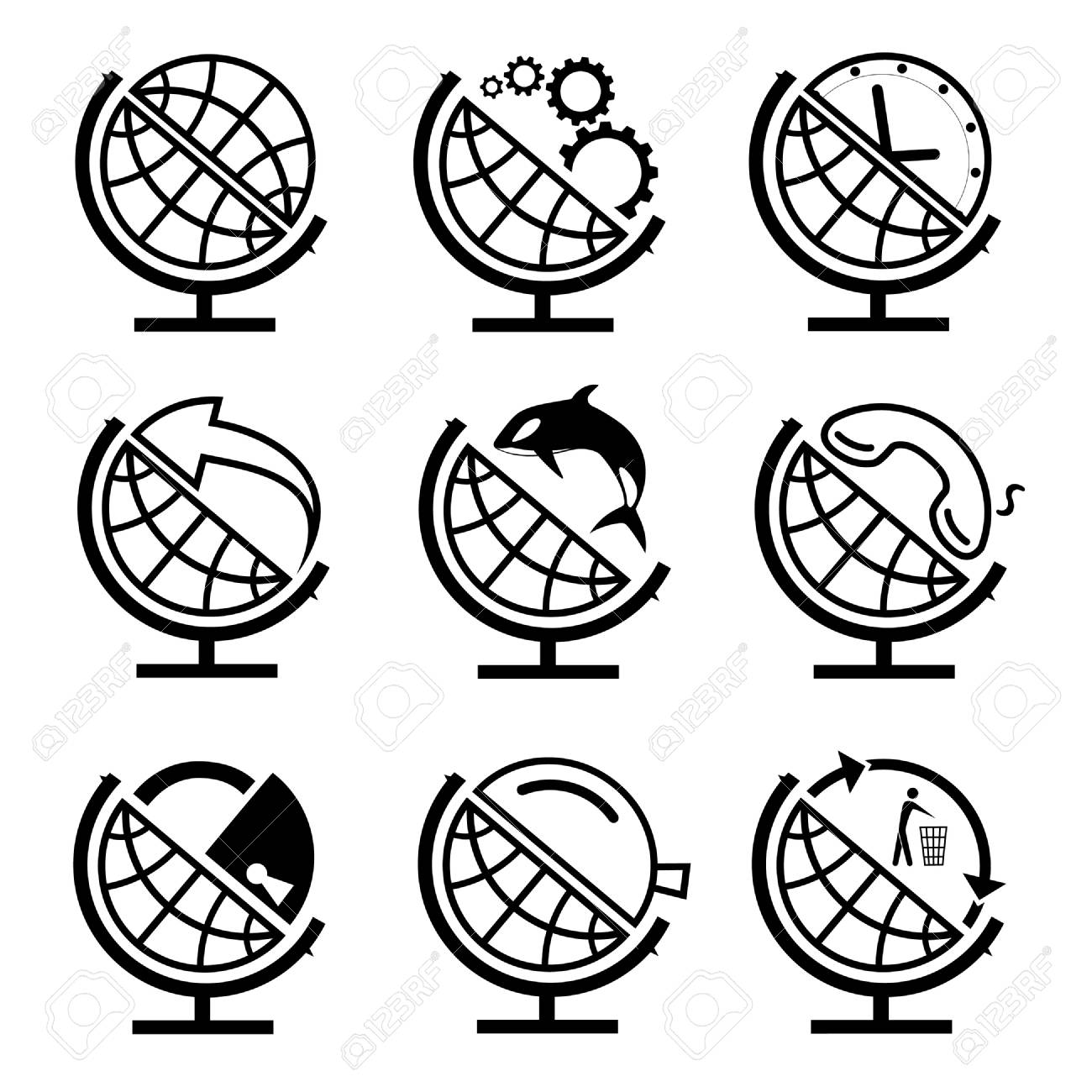 Vector set of globe Stock Photo - 8456720