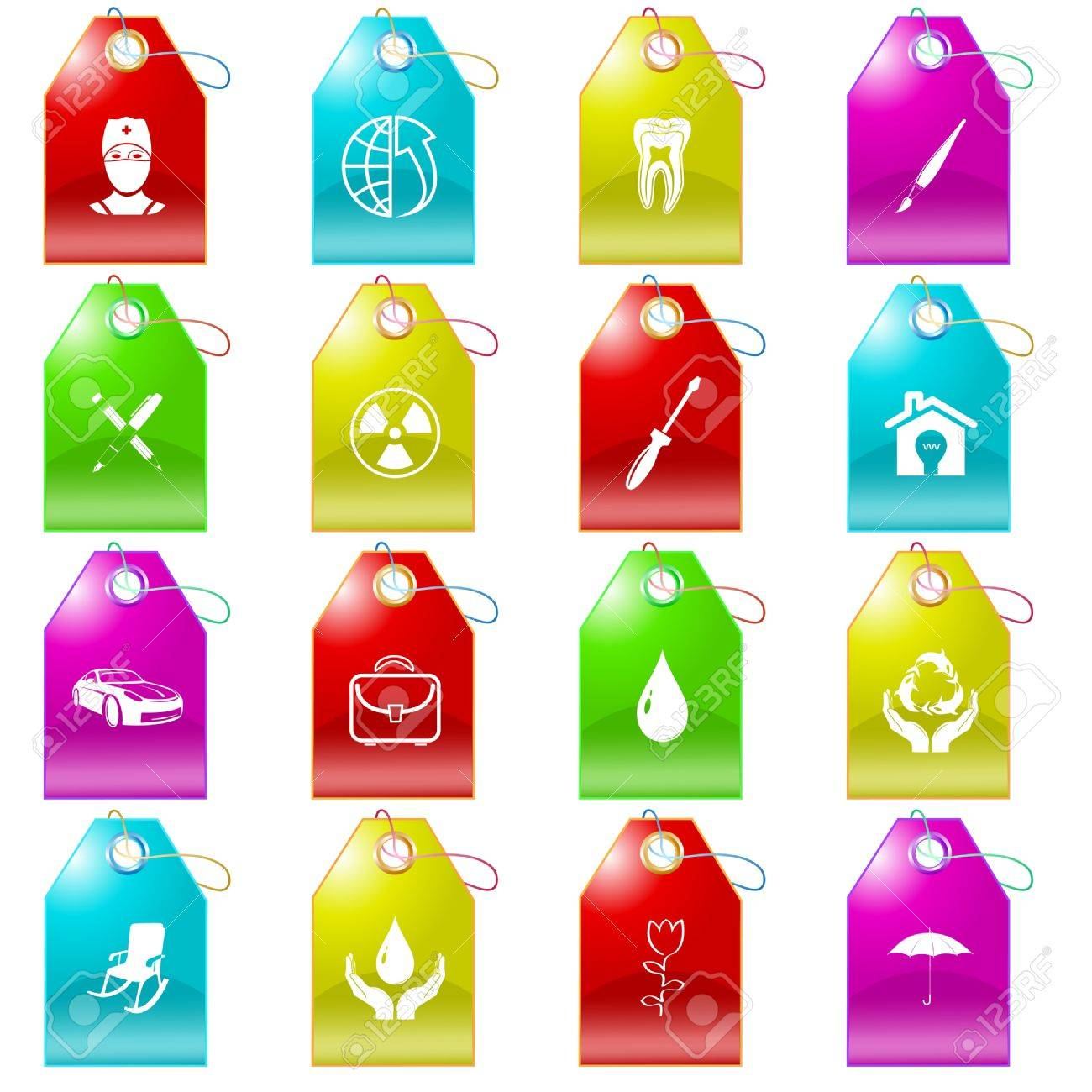 set of tags Stock Photo - 8616580