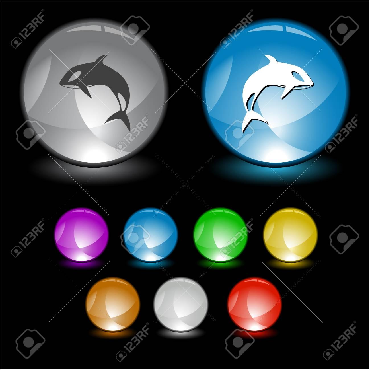 Killer whale. interface element. Stock Photo - 8737902