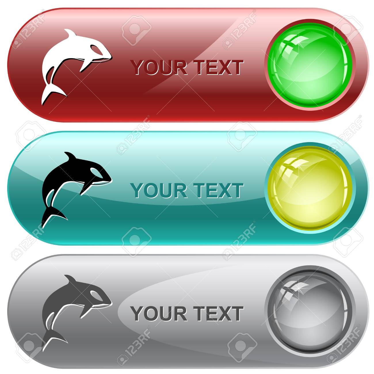 Killer whale. internet buttons. Stock Photo - 8769945