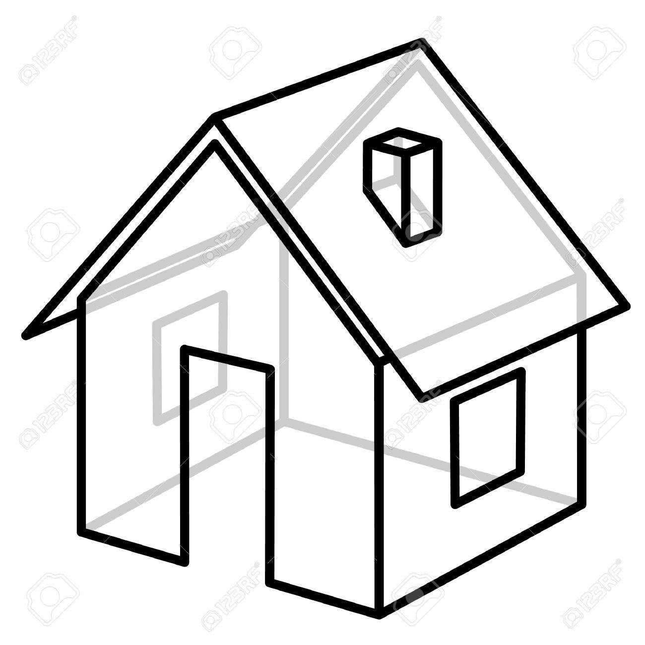 house wire frame model vector illustration stock photo picture House Clip Art house wire frame model vector illustration stock illustration 8919930