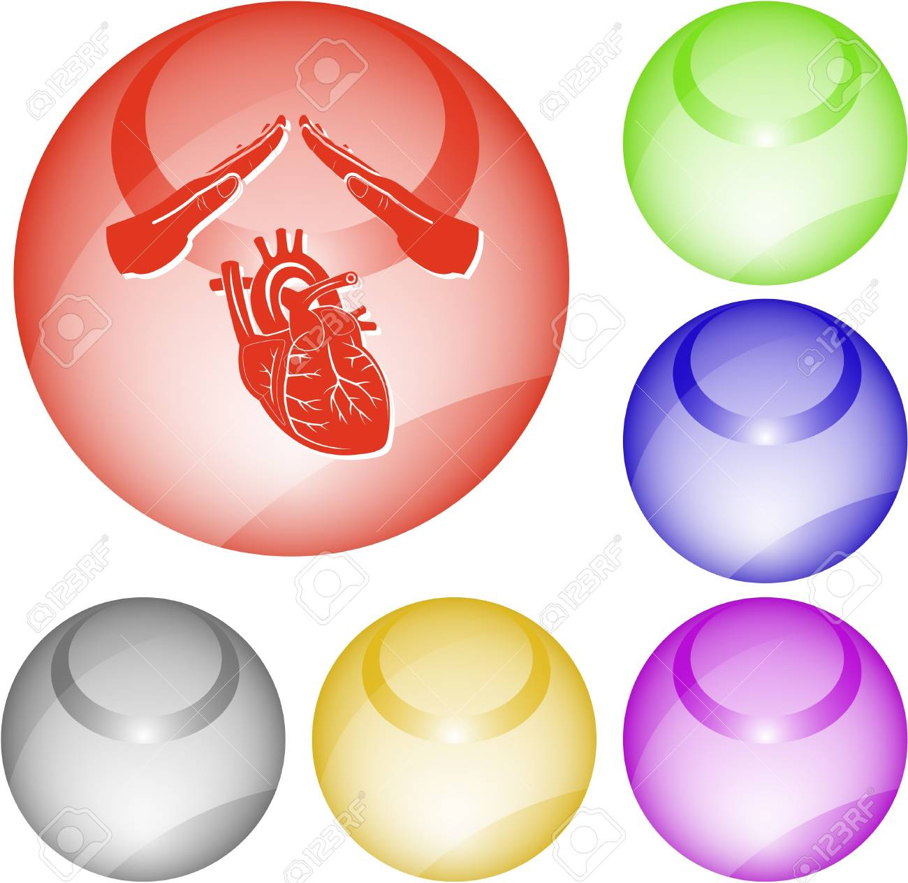 Heart protect. Vector interface element. Stock Photo - 9506396