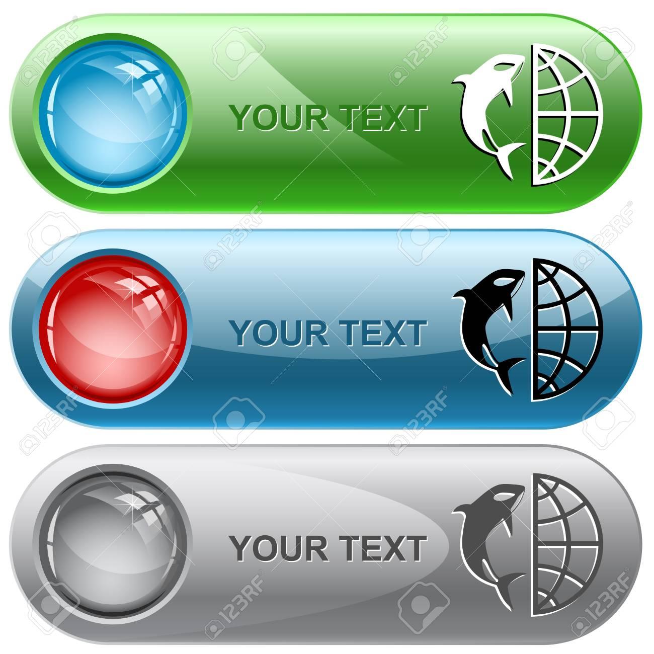 Globe and shamoo internet buttons. Stock Photo - 9603511