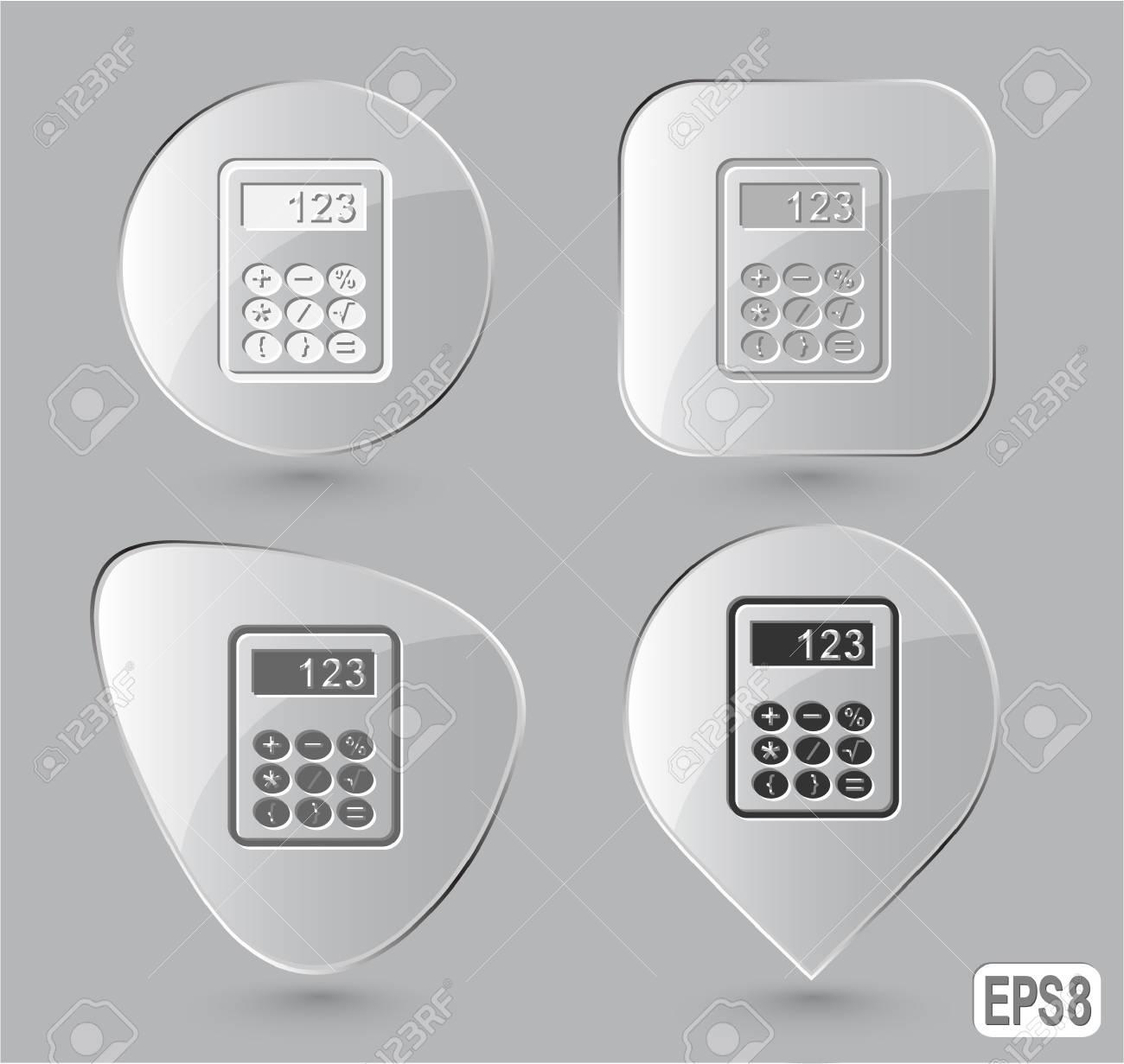 Calculator. Glass buttons. Vector illustration. Stock Illustration - 12920505