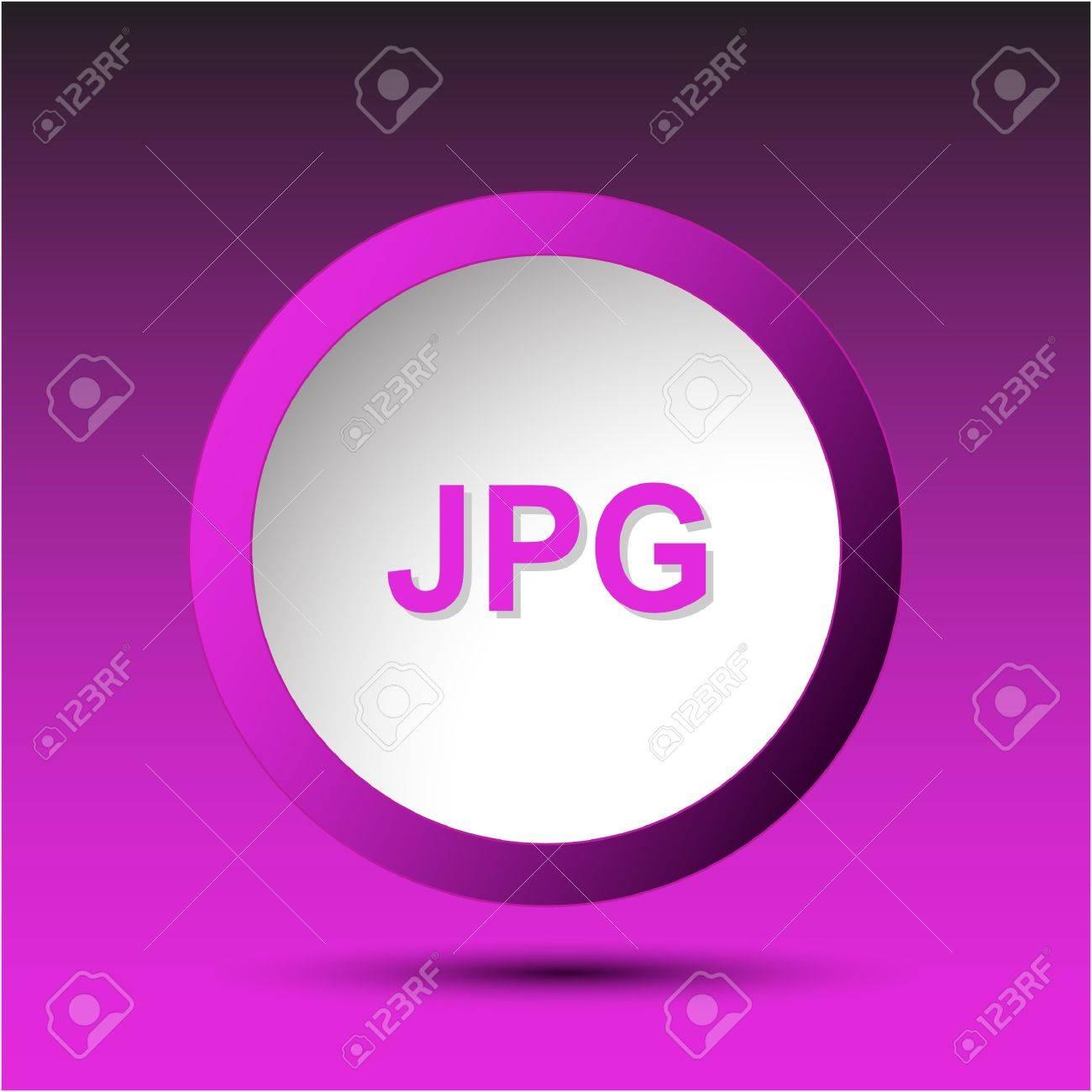 Jpg. Plastic button. Vector illustration. Stock Illustration - 15450680