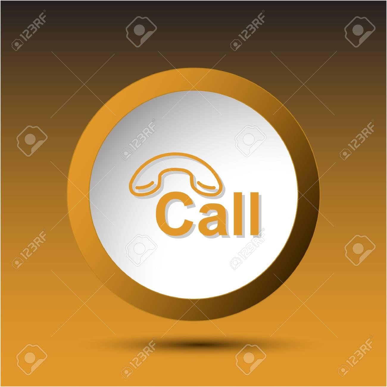 Hotline. Plastic button. Vector illustration. Stock Illustration - 15536884