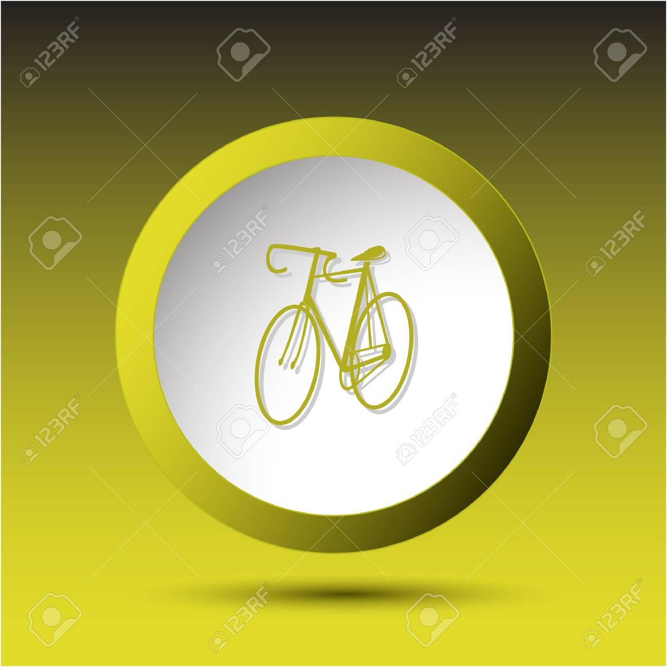 Bicycle Plastic button Stock Photo - 15615932