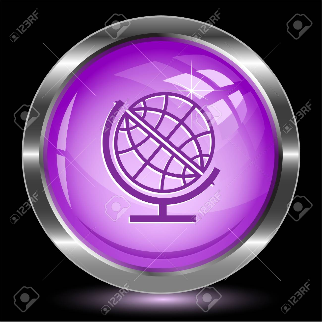 Globe. Internet button. Stock Photo - 15993039