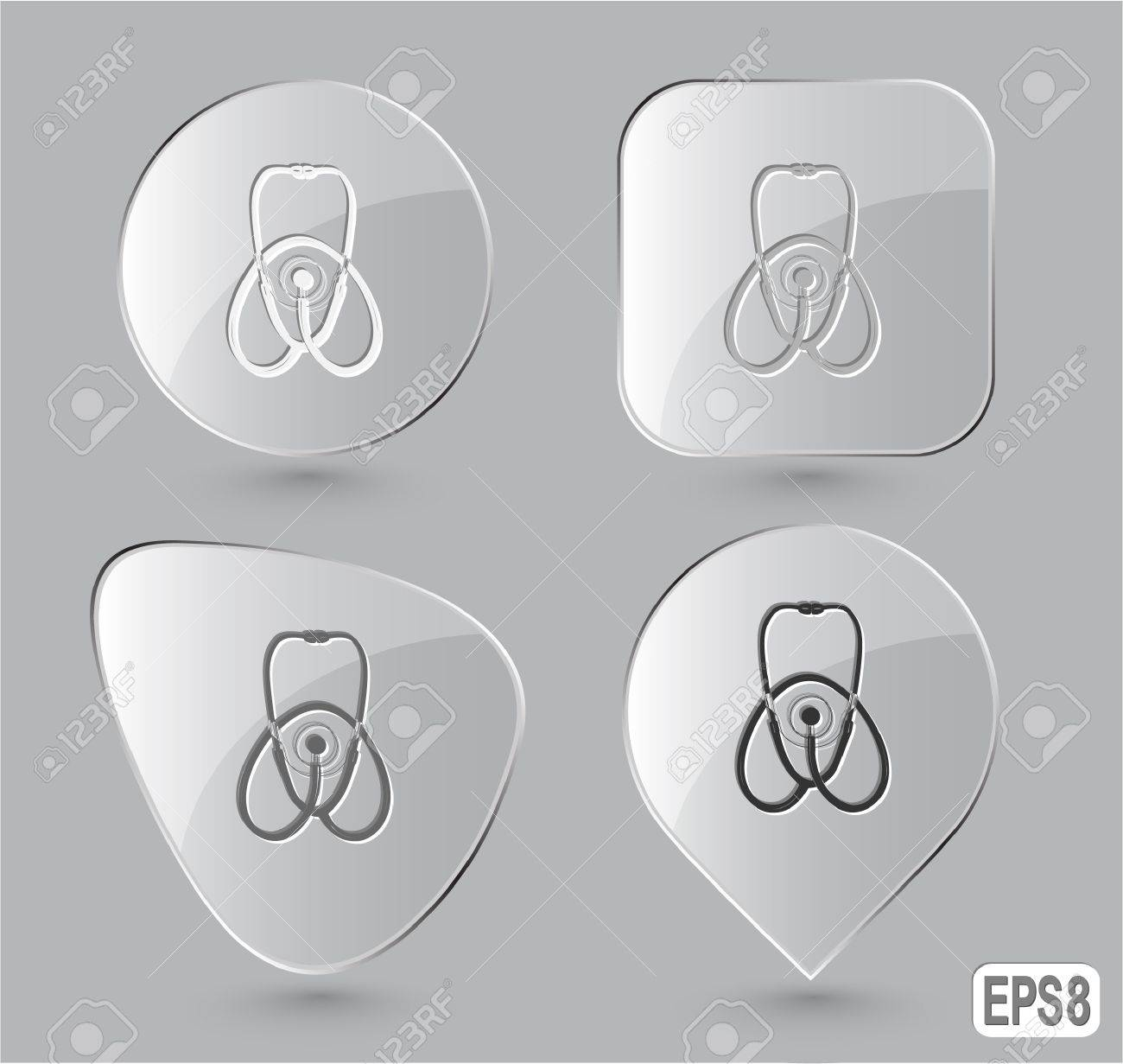 Stethoscope. Glass buttons. Stock Photo - 16804754