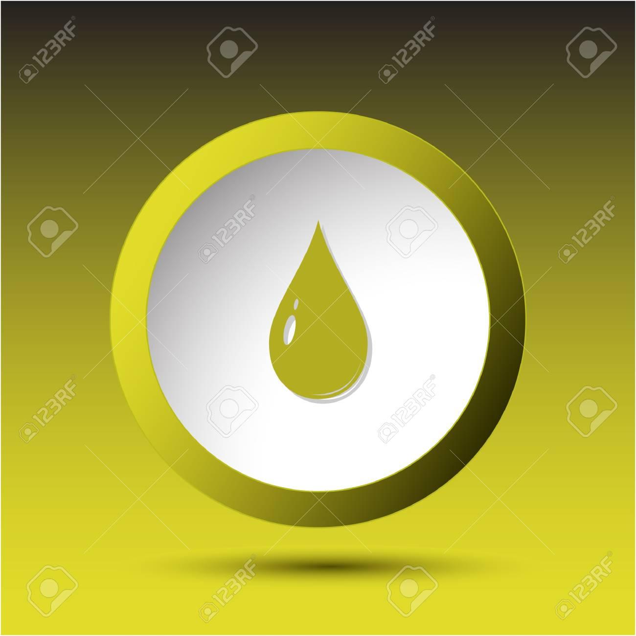 Drop. Plastic button. Stock Photo - 17127852