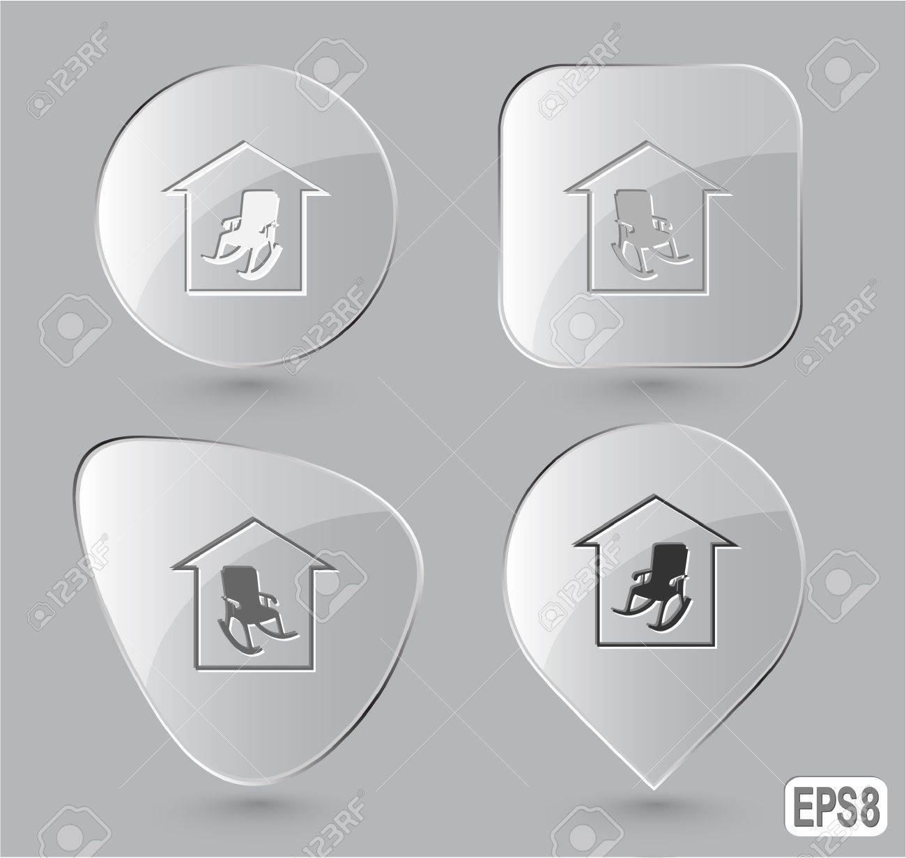 Home comfort. Glass buttons. illustration. Stock Illustration - 17163688