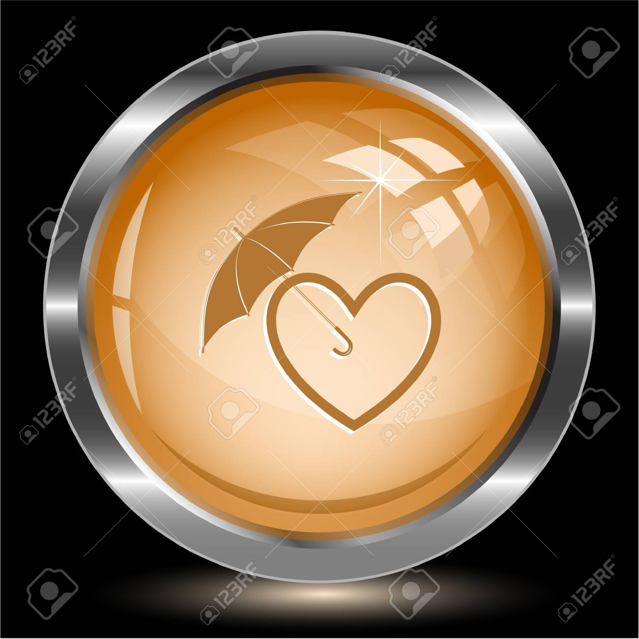 Protection love. Internet button. Vector illustration. Stock Illustration - 17194404