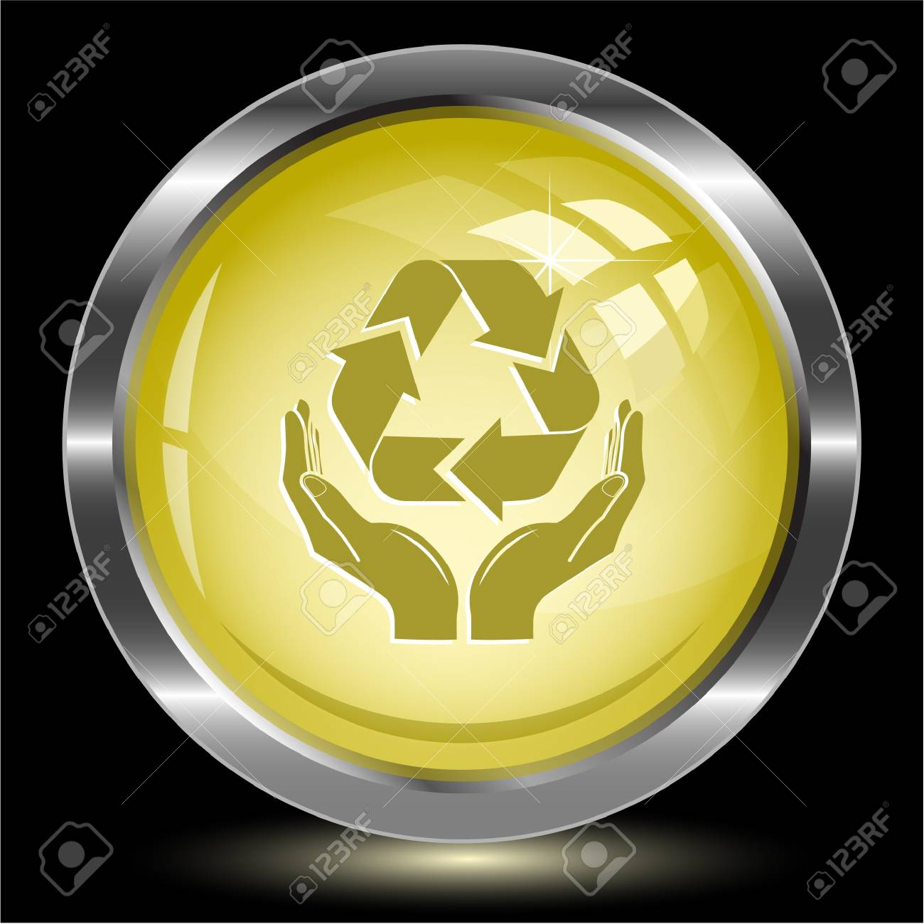 Protection nature. Internet button. Vector illustration. Stock Photo - 17344514