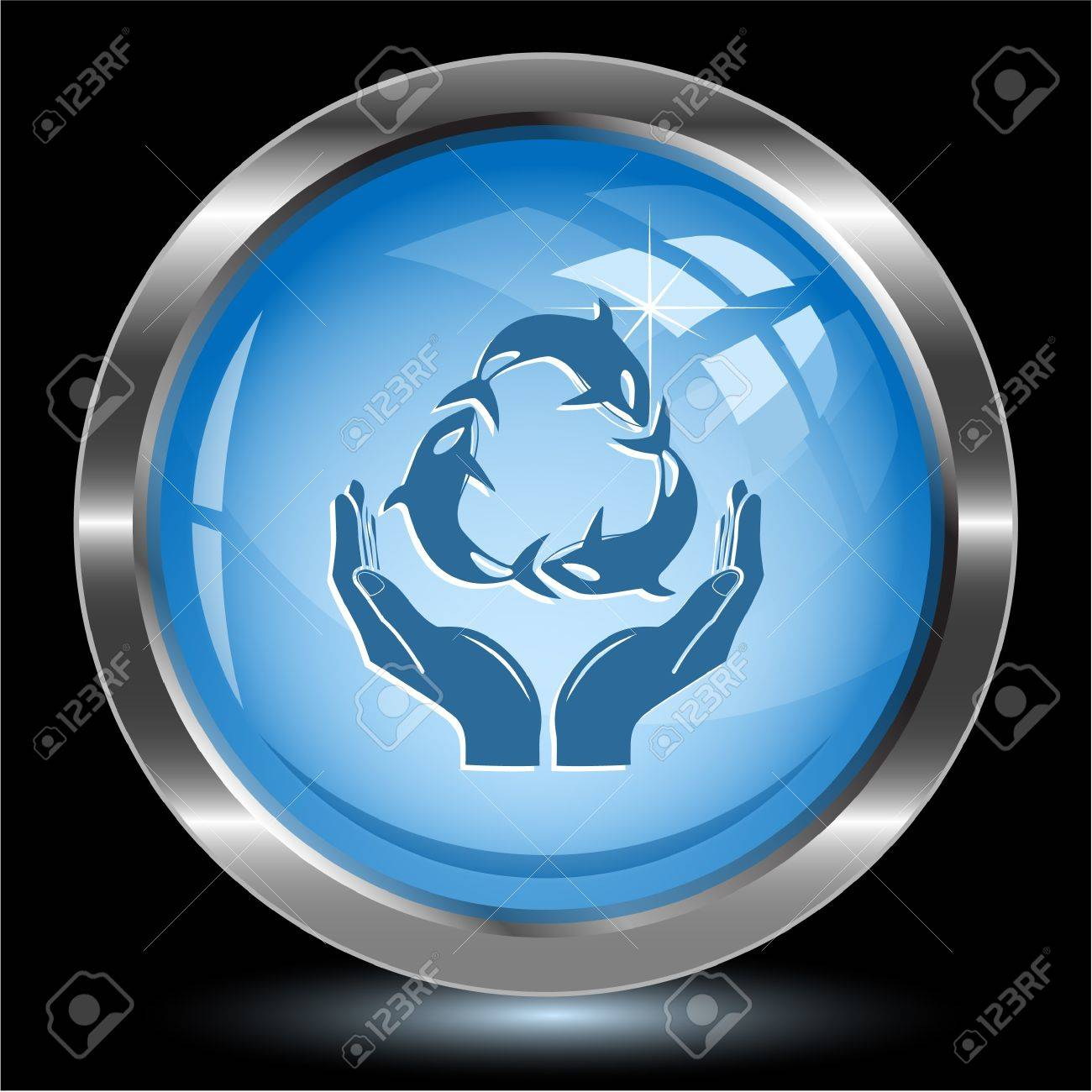 Protection nature. Internet button. Vector illustration. Stock Illustration - 17443230