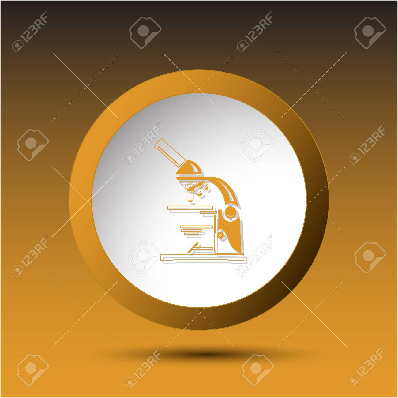 Lab microscope. Plastic button. Vector illustration. Stock Illustration - 17833514