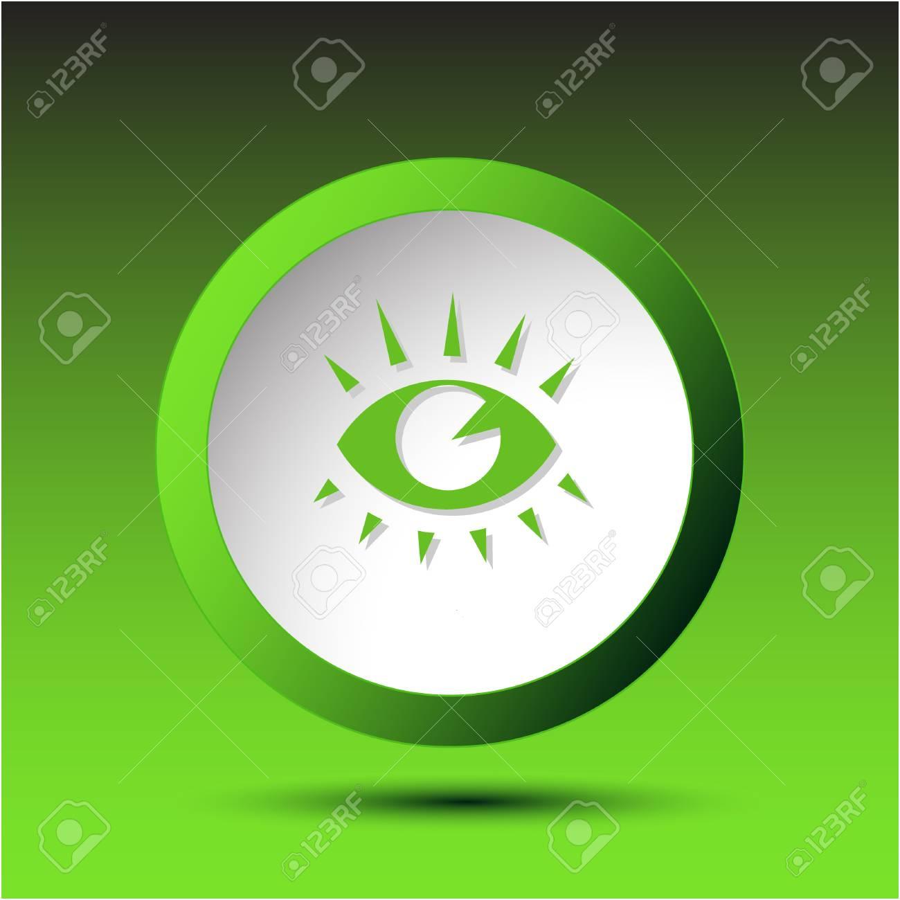 . Plastic button. Vector illustration. Stock Vector - 25302232