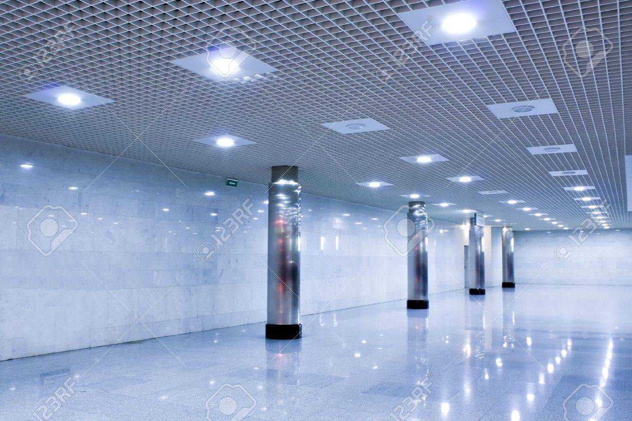 corridor in metro station with wide columns Stock Photo - 5423617