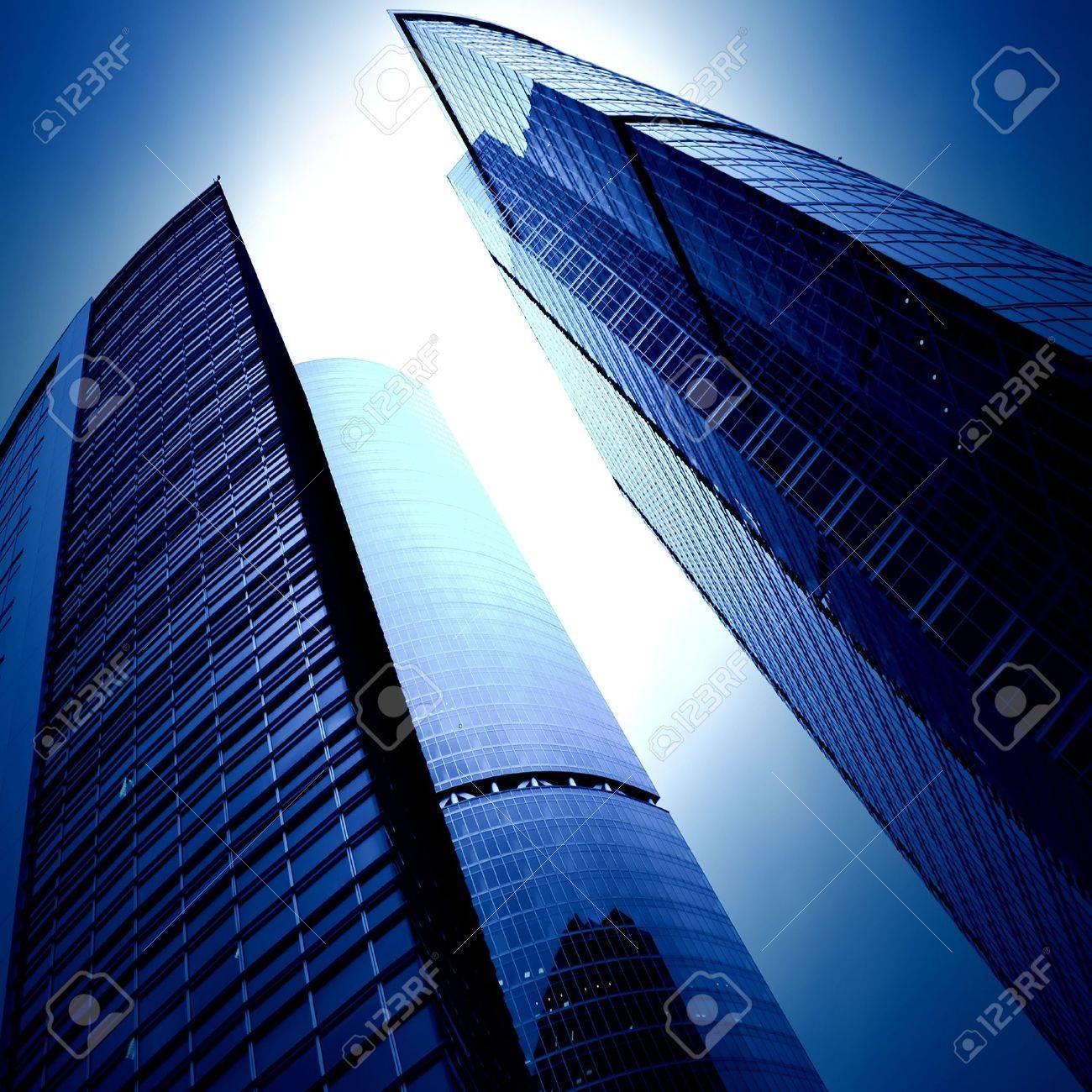futuristic skyscrapers of downtown Stock Photo - 5850265