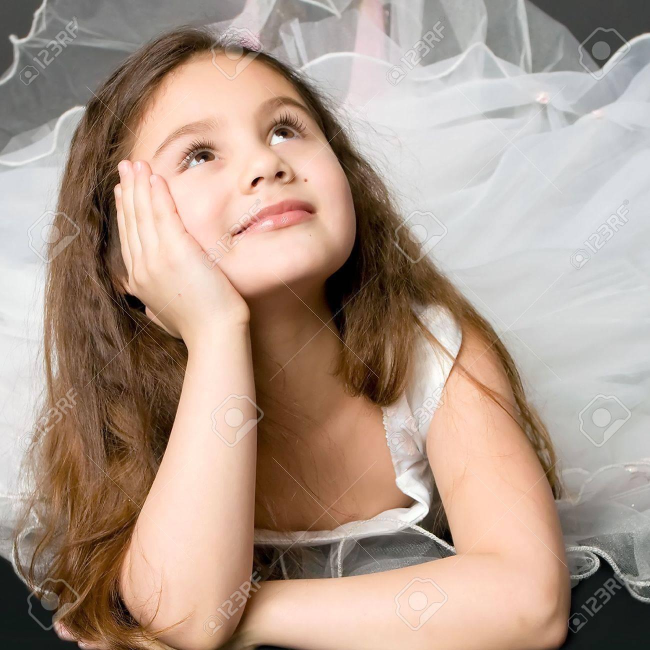 beautiful dreaming girl Stock Photo - 6808858