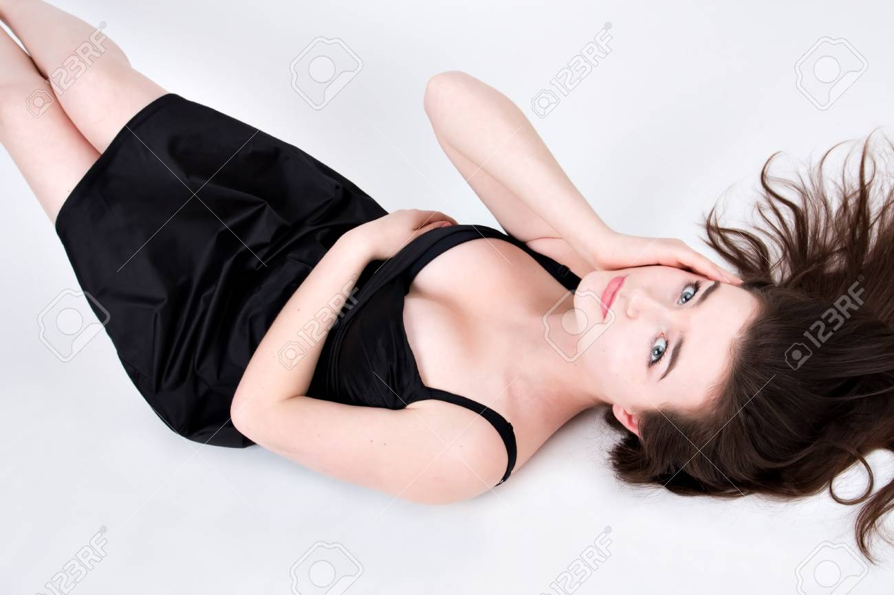 Portrait of the beautiful pretty woman with long curly hair Stock Photo - 6959910