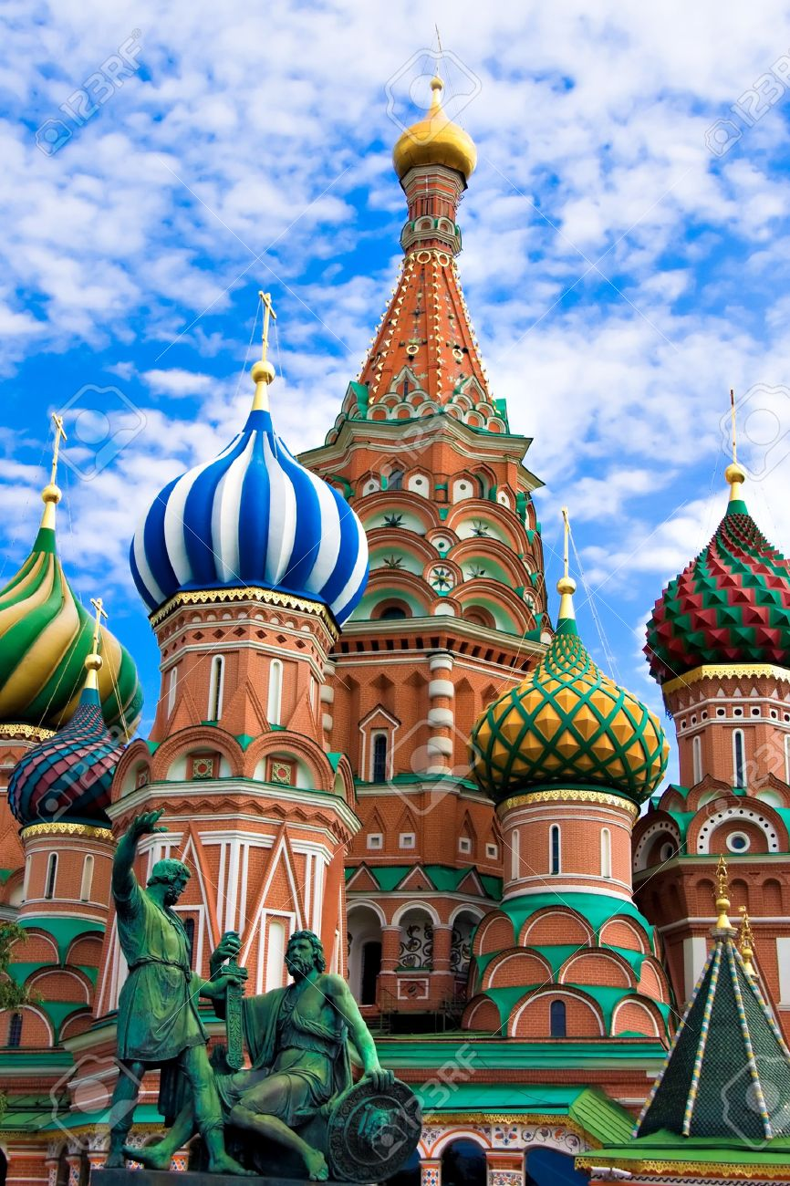 St. Basil\u0027s Cathedral On Red Square, Moscow, Russia Stock Photo ...