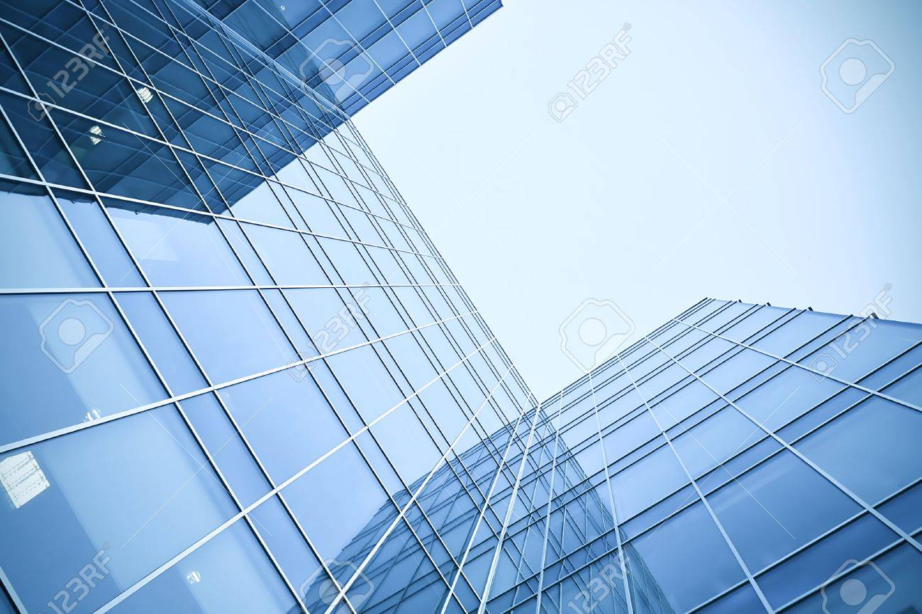 glass skyscrapers at night Stock Photo - 7415082