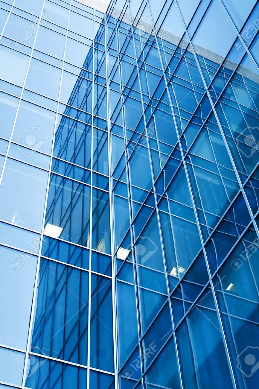 modern glass skyscraper perspective view Stock Photo - 7415073
