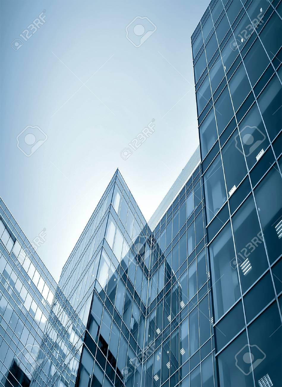 glass skyscrapers at night Stock Photo - 7891616