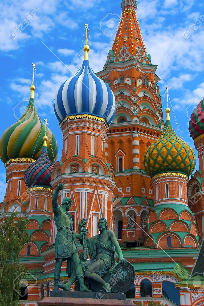 St Basils cathedral on Red Square in Moscow - 7891642