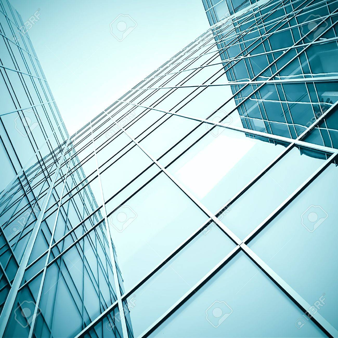 modern glass skyscraper perspective view Stock Photo - 7891810