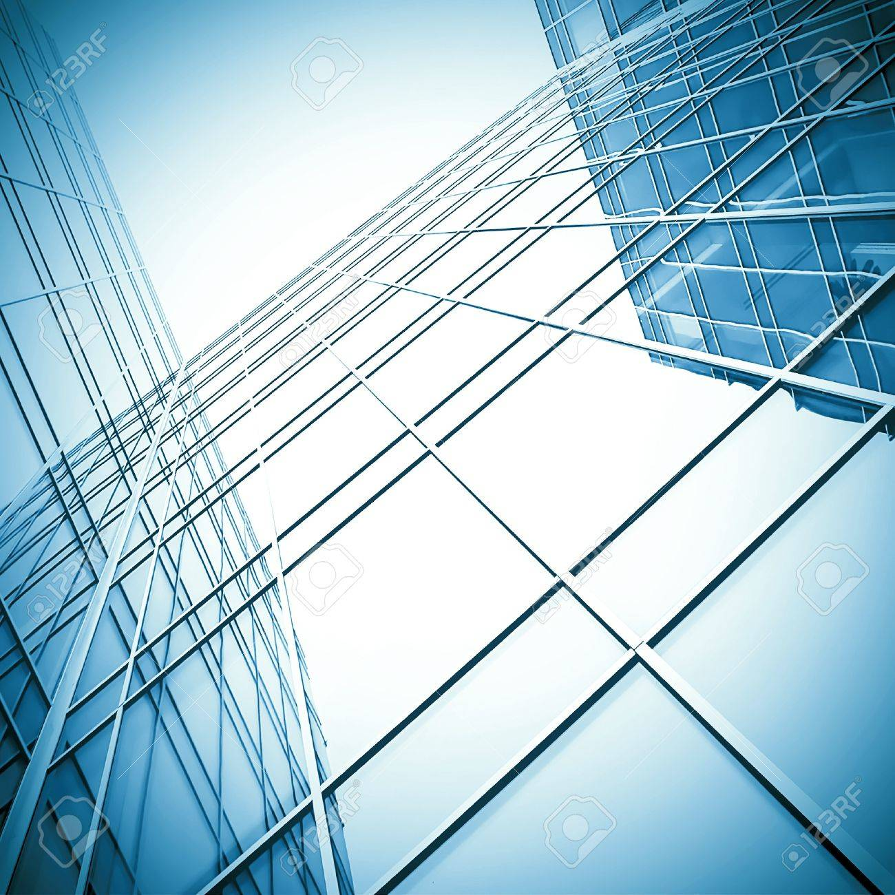 block with real estate of glass skyscraper perspective view Stock Photo - 8103424