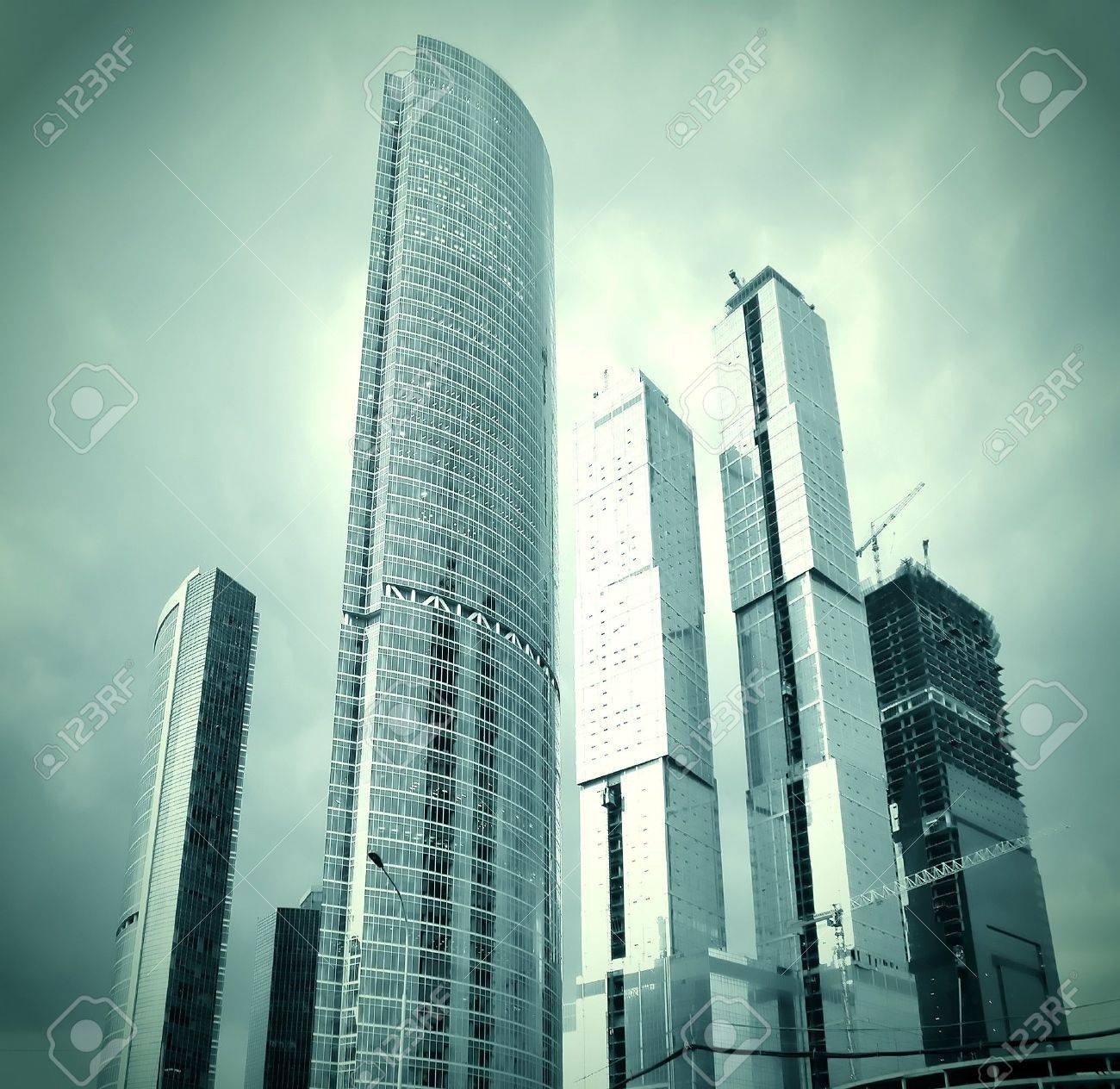 glass skyscrapers in gale Stock Photo - 8159429